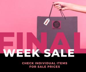 Final Week Sale!
